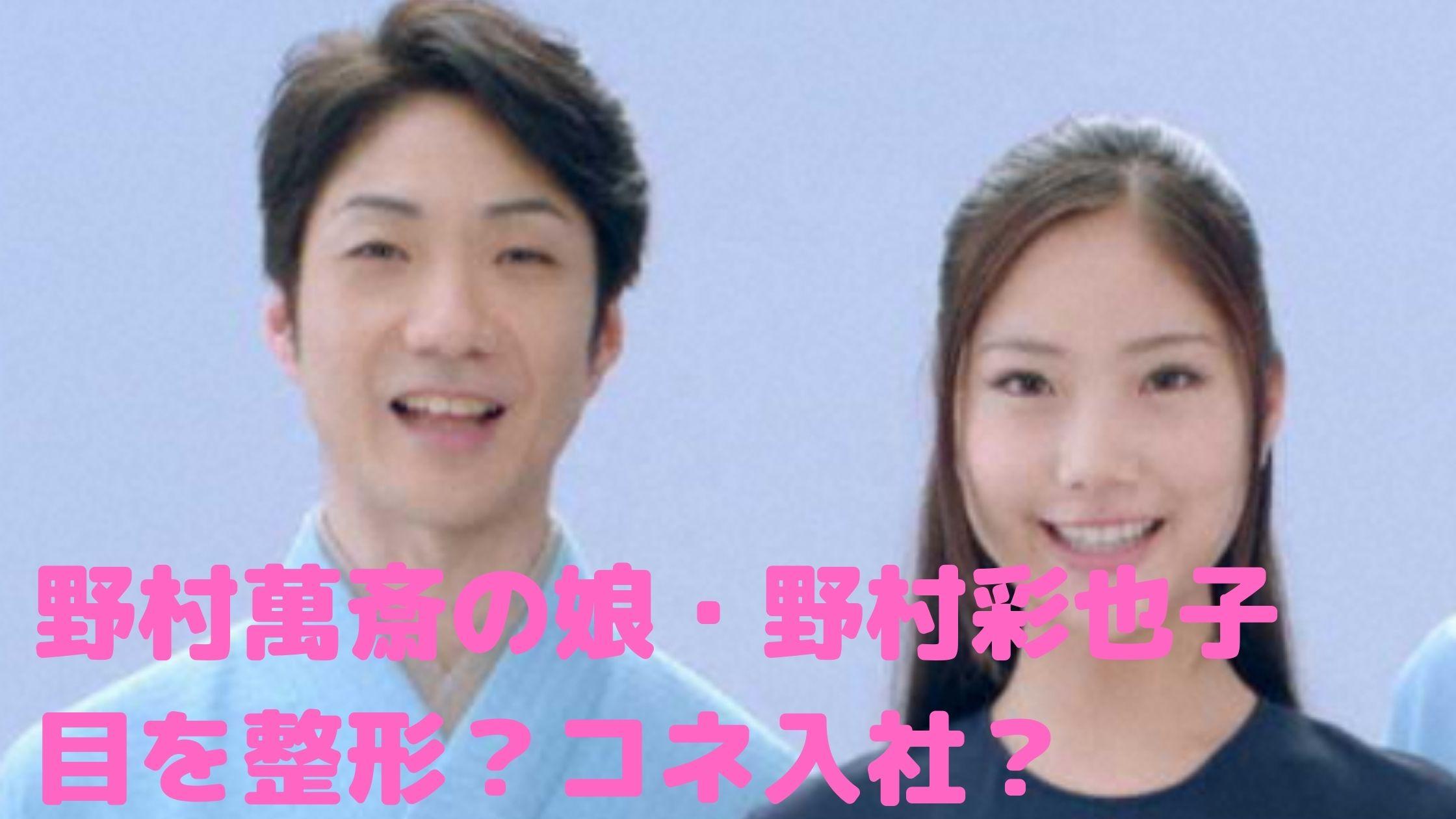 野村萬斎 娘 野村彩也子 大学 アナウンサー コネ 目 整形