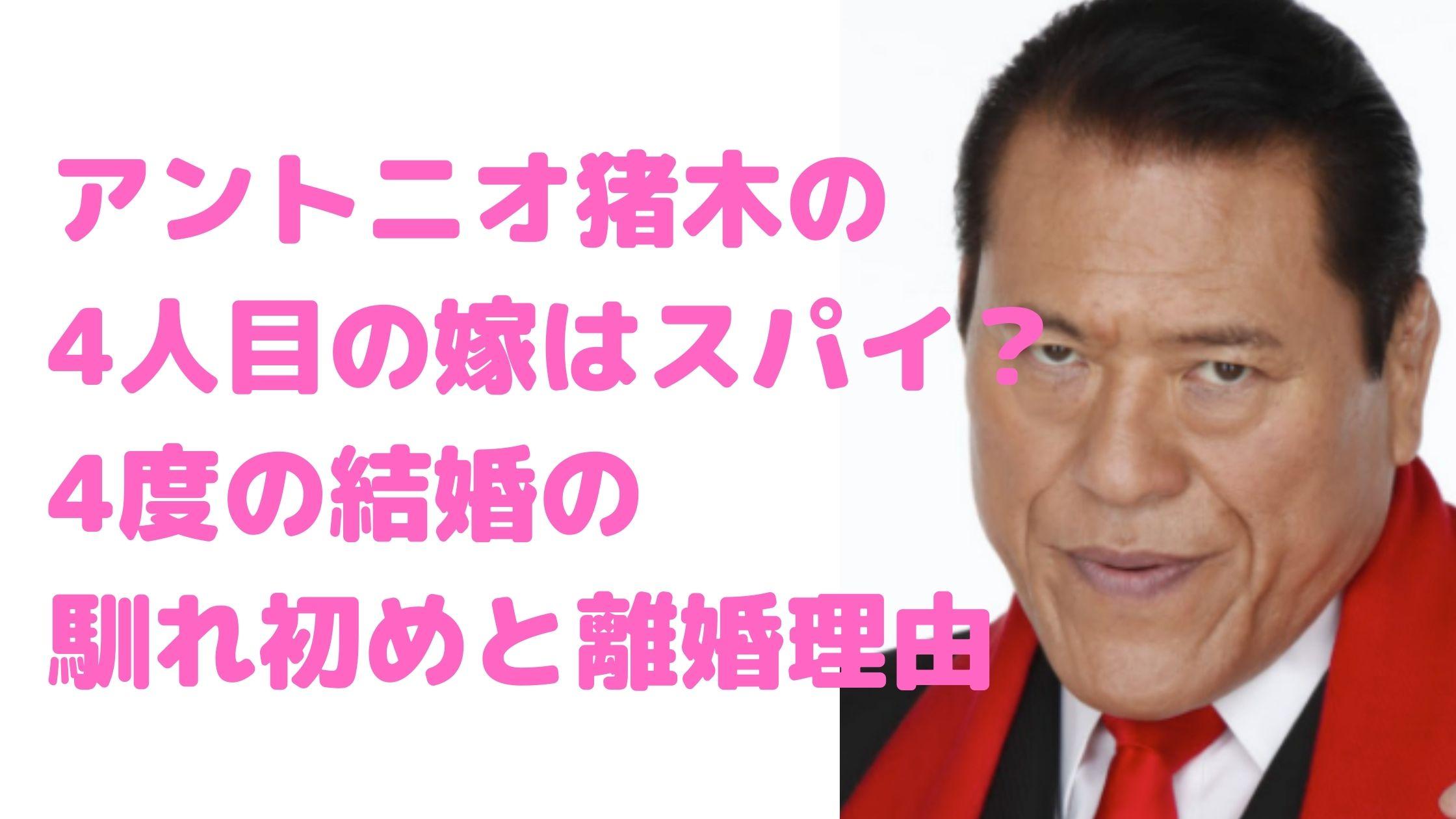 アントニオ猪木 嫁 尚子 死因 倍賞美津子 リンダ 橋本田鶴子 離婚理由 馴れ初め