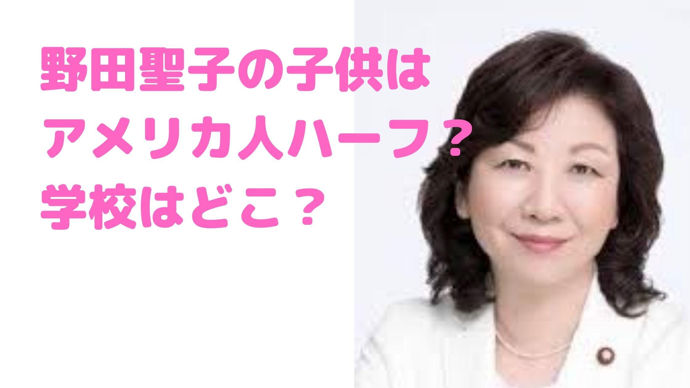 野田聖子 子供 ハーフ 胃ろう 障害 学校